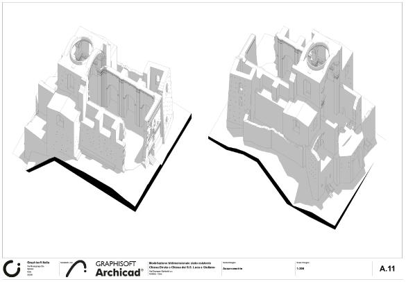 contest reuse italy - archicad - matera - graphisoft - concorso internazionale architettura - chiesa diruta - tecno3d
