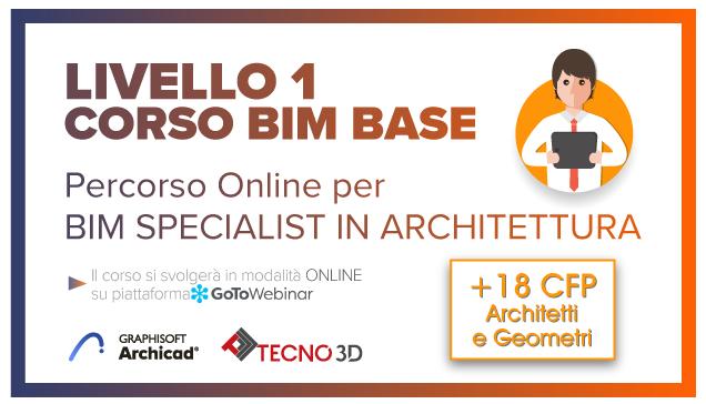 percorso bim specialist, tecno 3d, archicad, bim, icmq, architetti, cfp, ordine architetti