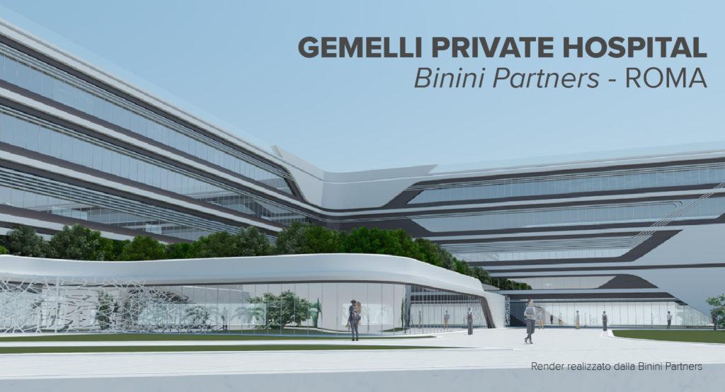 roma - gemelli - hospital - tecno 3d - binini - archicad - render - 2021 - lazio - graphisoft